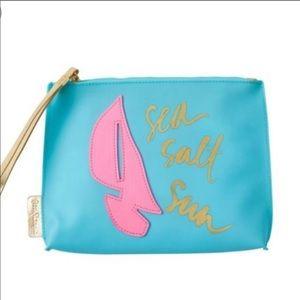 Lilly Pulitzer jelly wristlet purse sailboats NWT